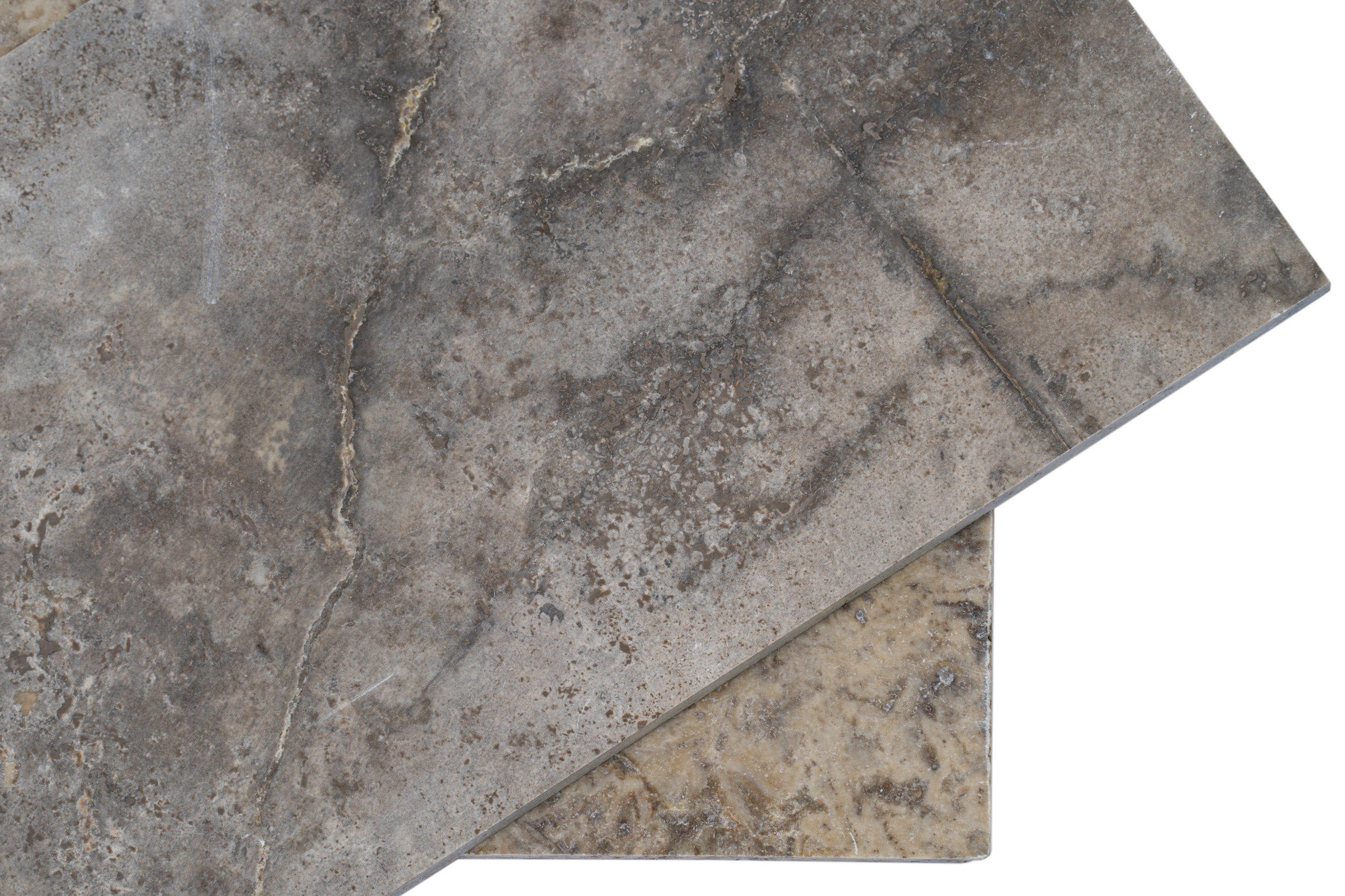 Silver Travertin cross cut